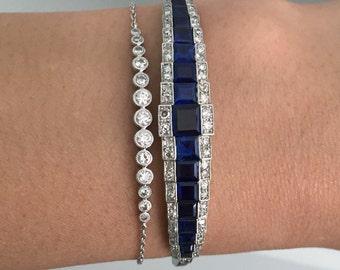 """Round Diamond Bezel Bracelet - """"Georgia"""" by JYB Jewels"""