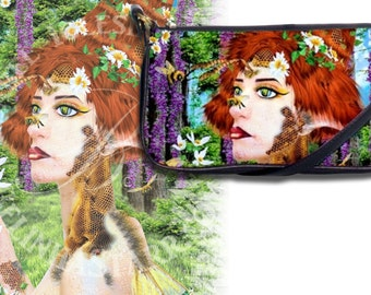 Beewildered - Leather Clutch Purse - Fantasy