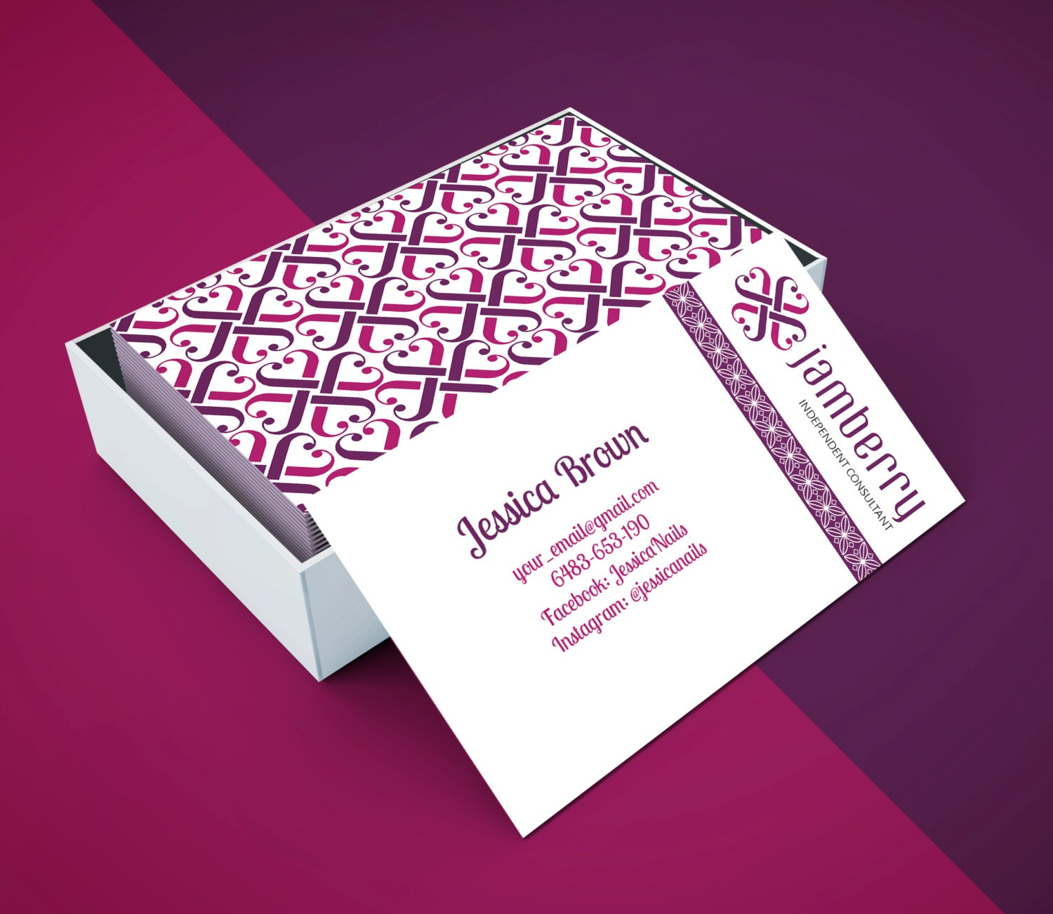 Jamberry Business Card For VistaPrint Or Printing At Home