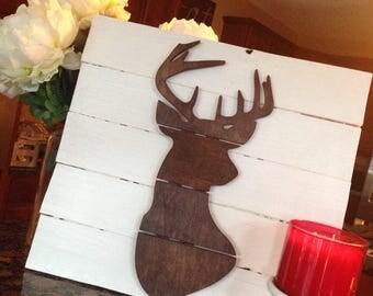 Deer Wood Pallet Sign