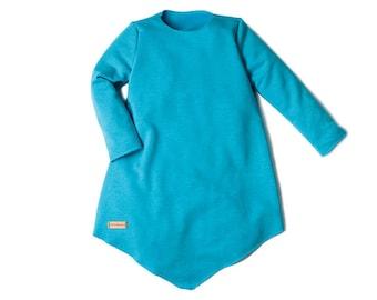 Sweatshirt dress Turquoise Talia