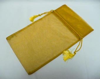 "gold sheer bag 6"" x 10"" w/tassel"