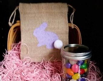 Easter Burlap Bag w/Jar