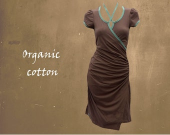 organic cotton dress, cotton tricot dress, dress organic cotton GOTS certified