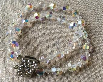 Vintage aurora borealis austrian crystal style Bracelet