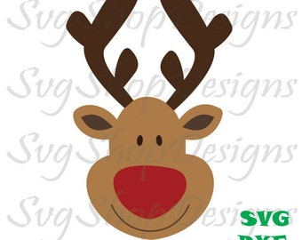 SVG Reindeer Cutting File, Reindeer cut file, Reindeer Cutting file, Reindeer svg, rudoloh svg, Svg,Dxf, Eps, Png, For Cricut, Silhouette