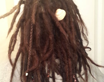 10 Human Hair Dreadlock Extensions