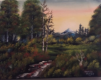 Fall Forest oil painting custom
