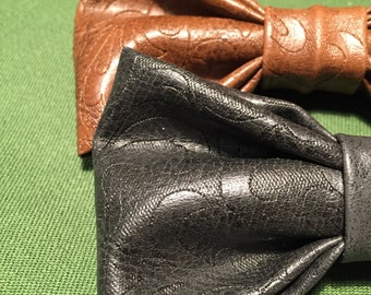 Faux Leather Bow ties - Papillon in Pelle