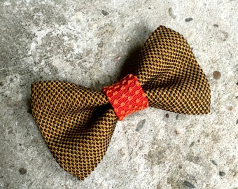 YUMI bow tie-Brown | Red