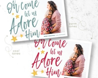 Adore Him Holiday Photo Cards