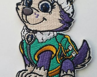 Everest inspired iron on patch, Paw Patrol iron on patch inspired
