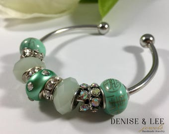 Mint Green European Beaded Bracelet