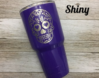 Sugar Skull Powder Coated YETI, RTIC, & Ozark