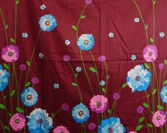 Vintage Floral Cotton Sateen