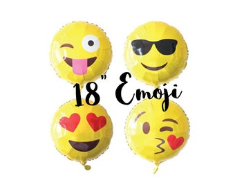 "Emoji Foil Balloon 18"""