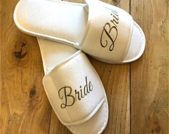 Wedding Slippers, Bride Slippers Personalised