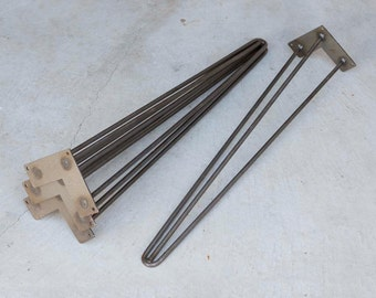 W5032A4 Reinforced 3-rod hairpin legs for dinning table, writing desk, computer table, price for set of 4