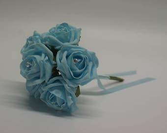 Wedding Posy - Perfect for Bridesmaids ( Aqua )