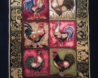 Horozlar (The Roosters) - 100% Handmade Hereke Silk Carpet