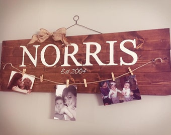 Custom Hand painted sign and picture holder