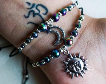 Sun & Moon Rainbow Bracelets