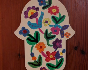 Handmade Hamsa from the Holy Land -Peace Decor for your Home