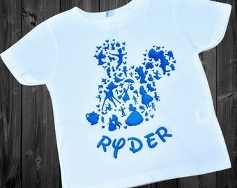 Personalized Mickey Silhouette Shirt