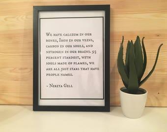 Nikita Gill Quote Digital Downloadable Print