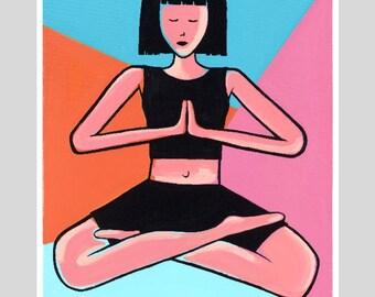 Om Yoga Print - Acrylic Painting - Giclee Fine Art Print - Wall Art - Wall Decor - Home Decor - Limited Edition Print