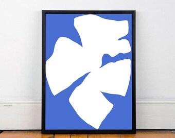 Abstract Modern Print - Art & Collectibles - Wall art - home decor - Art Poster - Blue