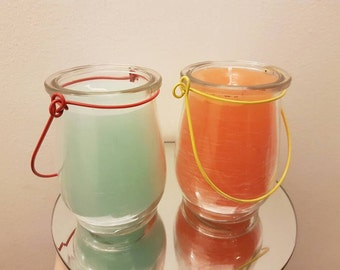Glass lantern scented candles