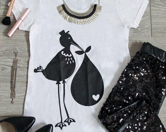 Stork Delivery Maternity Tee (Black)