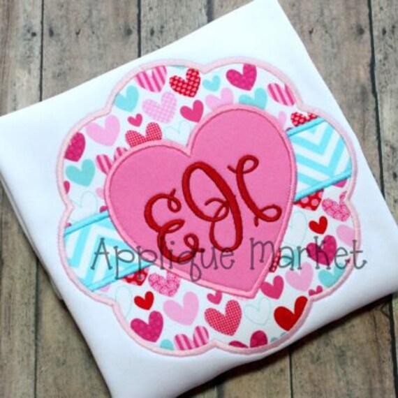 Valentine's Day Shirt, Sample Sale, monogram shirt, girls shirt, monogram ruffled shirt