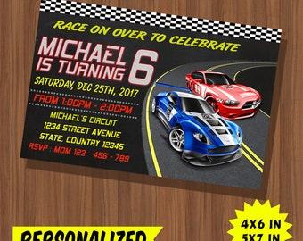 Hot Wheels Invitation / Hot Wheels Birthday / Hot Wheels Birthday Invitation / Hot Wheels Party / Hot Wheels Invite / Hot Wheels Card Invite