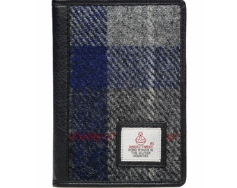 Harris Tweed passport wallet