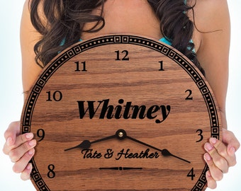 Personalized Gifts for Family Members - Family Last Name Gift - Gift for Family - Family Decor - Custom Name - Family Love Clock