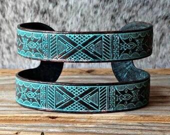 Aztec Patina Cuff Bracelet
