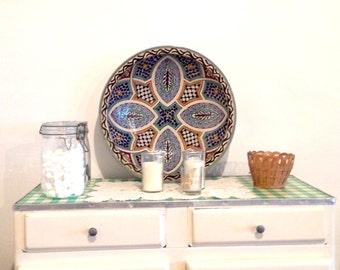 Moroccan ceramic dish