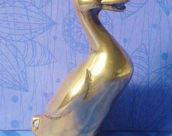 copper/brass duckling, figurine