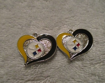 Set of 2 Charms inspired by Pittsburgh Steelers