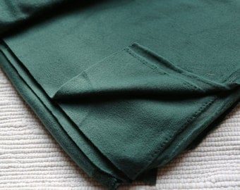 Fleece/pile fabric. 50x50 cm. Dark emerald (green) colour