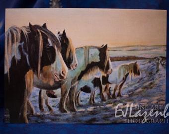Blank Fine Art card - 'Snowline'