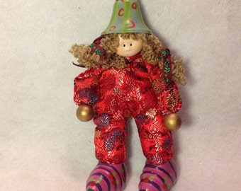 She's the bell of the ball, poseable (flexible) handmade Doll ""