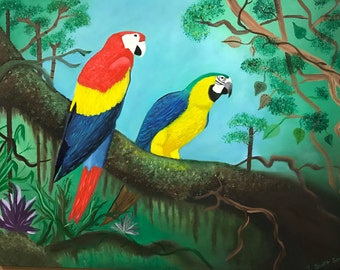 Macaws in Oil