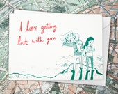 I Love Getting Lost With You - Valentine's / Engagement Greeting Card, for all the adventurers and explorers out there!