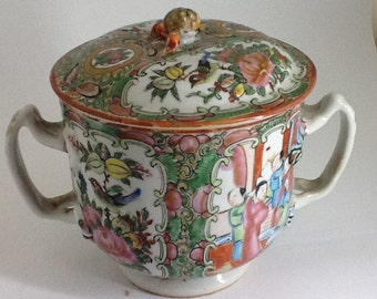 Antique Chinese Porcelain Sugar Bowl