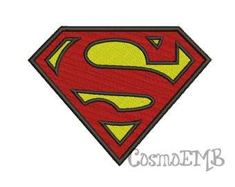 Superman  Embroidery design Machine Embroidery - Digital INSTANT DOWNLOAD