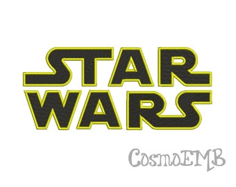 5 Size Star Wars Embroidery Design  Machine Embroidery - Digital INSTANT DOWNLOAD