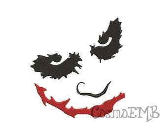 6 Size Joker Embroidery design Machine Embroidery - Digital INSTANT DOWNLOAD